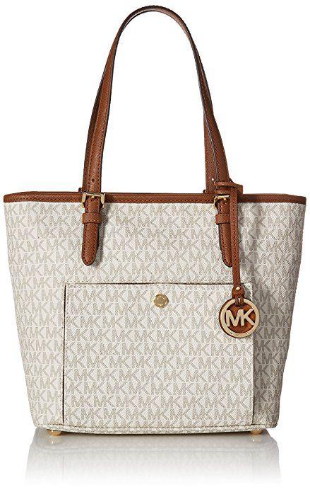 Michael Kors Mk Jet Set Signature Shoulder Bag | Bags | Pinterest ...