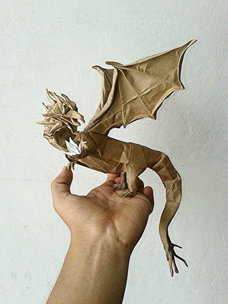 Western Dragon Shuki Kato By Javier Vivanco Origami Video Diagram Quotswan Quyetquot