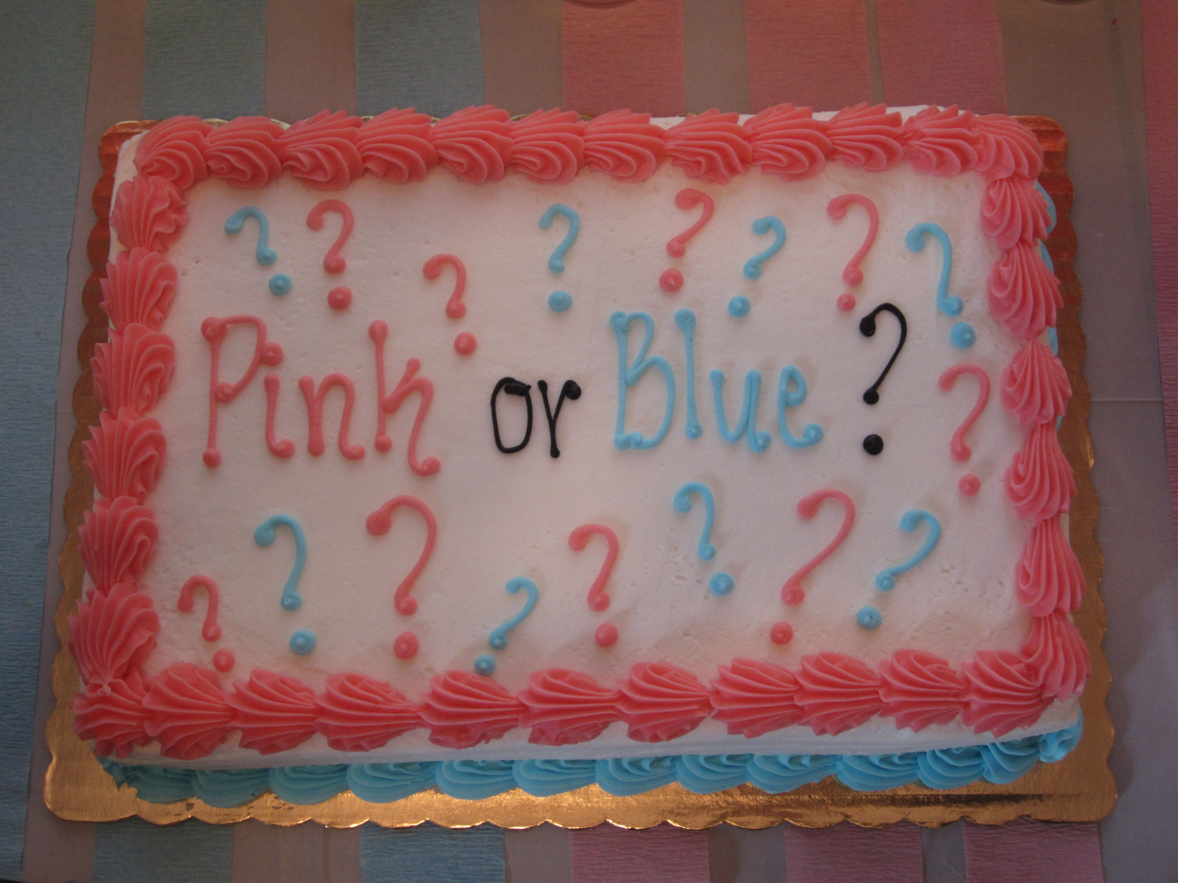 Cake for gender reveal party from lowes foods gender