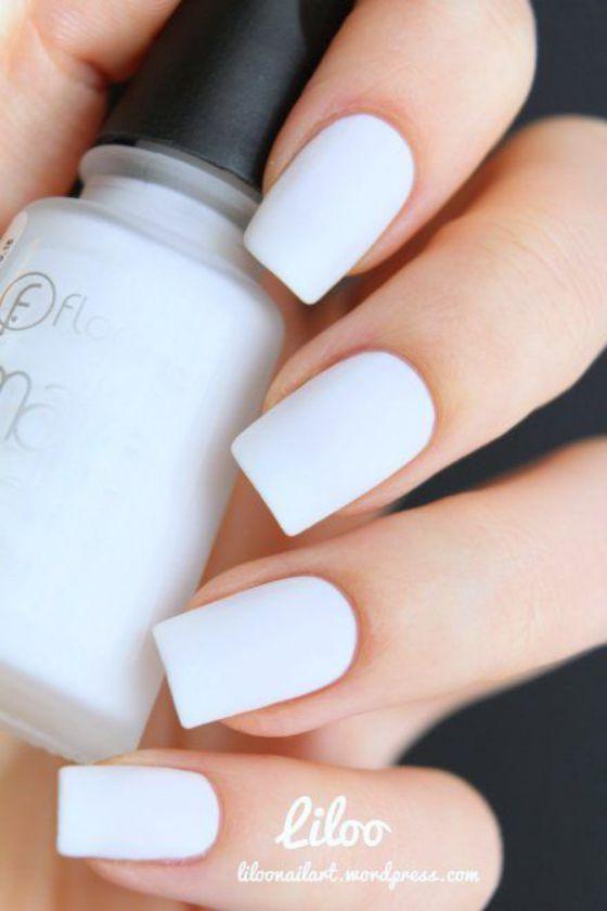 tono blanco uñas | nails | Pinterest | Blanco, Diseños de uñas y ...
