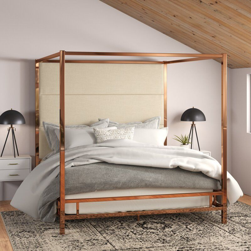 Everson Upholstered Canopy Bed in 2020 Metal canopy bed