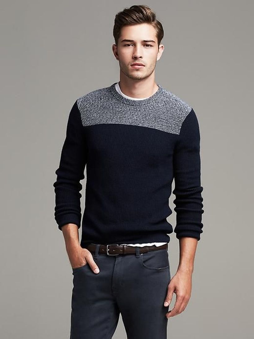 40 Cool Teen Fashion Ideas For Girls: 40 Cool Men Sweater Outfits Ideas That Worth To Try