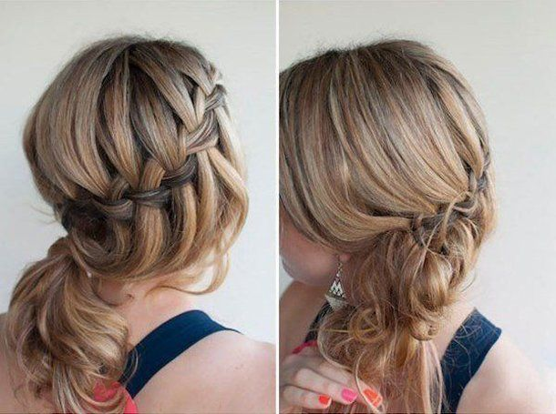 flechtfrisuren mittellange haare side braid ponytail short hairstyles over 50 hair styles