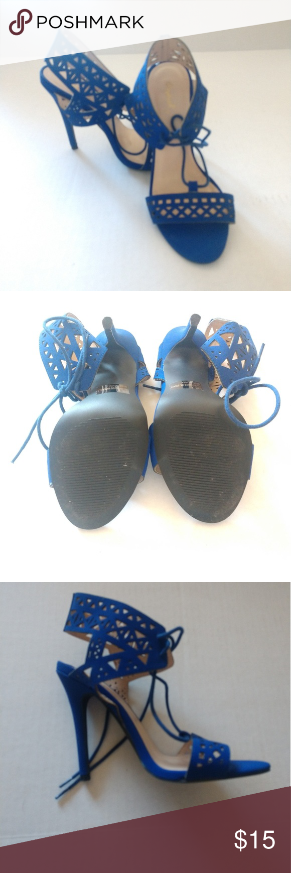 Cupid High Heal Sandals Blue Cupid High Heal Sandals that are size 6 they are in like new condition. Cupid Shoes Heels #myposhpicks
