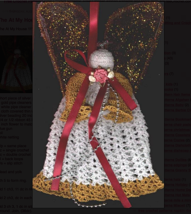 Top 10 Free Christmas Crochet Patterns on AllFreeCrochet: Christmas Crochet Angel