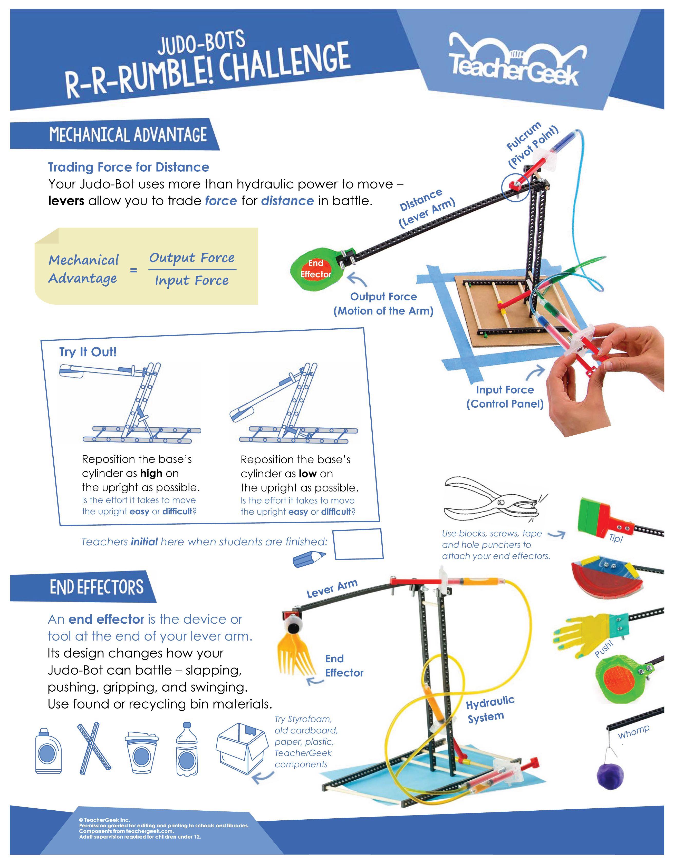 Judo Bot Activity Documents Teachergeek Physics Projects Science Fair Engineering Design Process