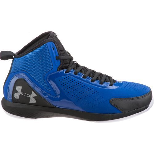 i have these basketball shoe the only thing is that mine are all black with the same under amour logo on the heal