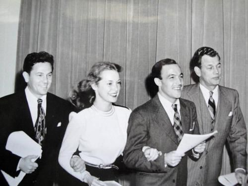 John Garfield, Janet Leigh, Gene Kelly and Joseph Cotton