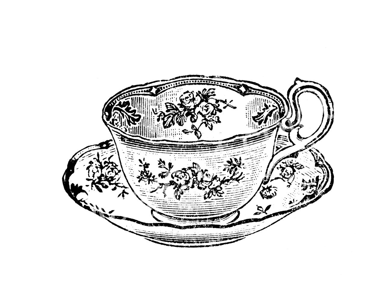 Images For > Vintage Teacup Drawing | sprout 38 | Pinterest ...