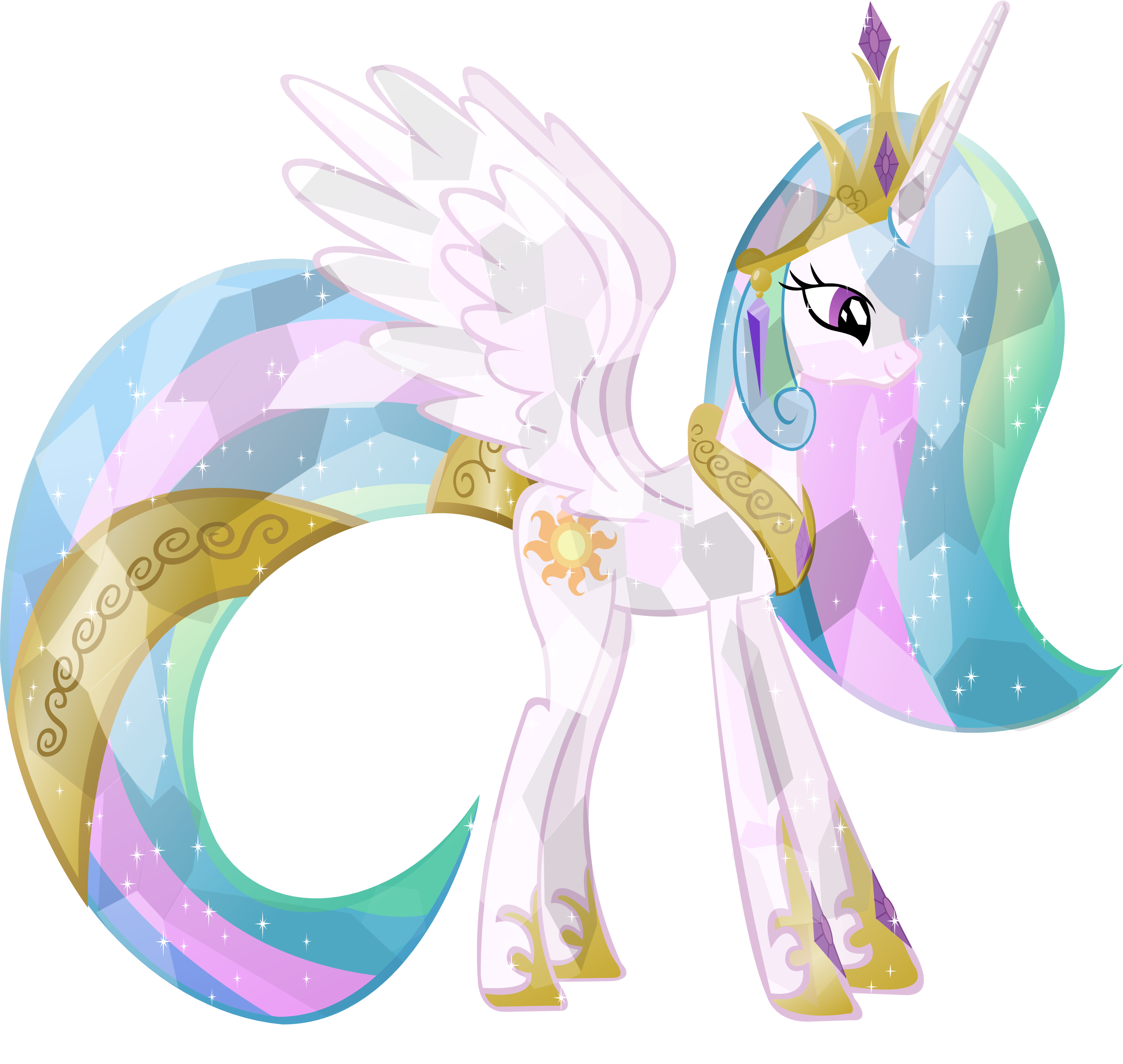 Crystal Princess Celestia By Vector Brony On Deviantart My Little Pony Wallpaper Crystal Ponies My Little Pony Pictures