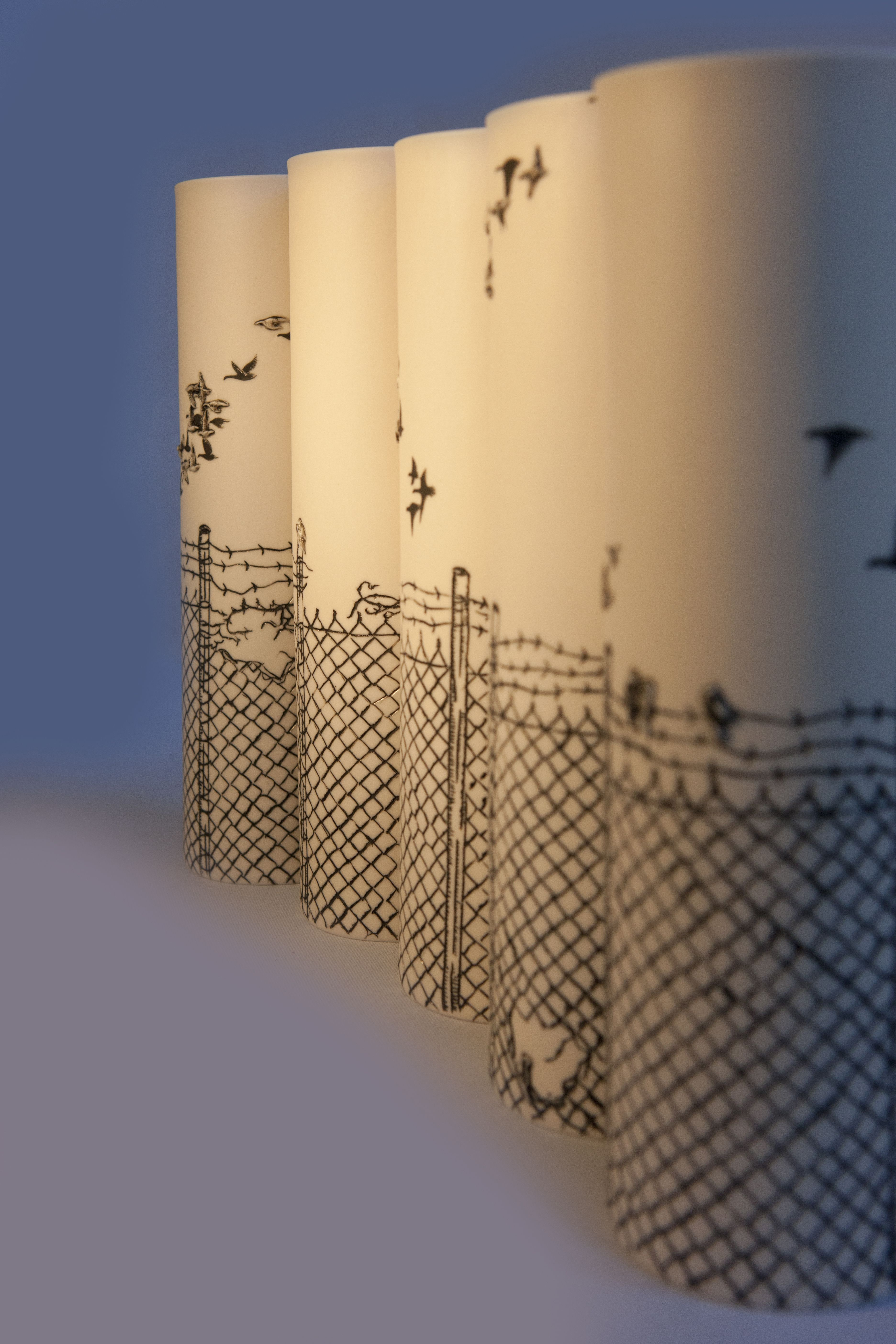 Detail of 11 pieces of installation Art! \