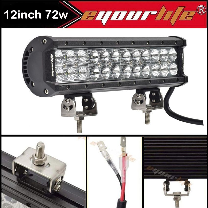 Eyourlife 12 inch led light bar truck light bar off road driving cheap truck light bars buy quality truck light directly from china truck suppliers eyourlife 12 inch led light bar off road driving truck light bar atv mozeypictures Choice Image