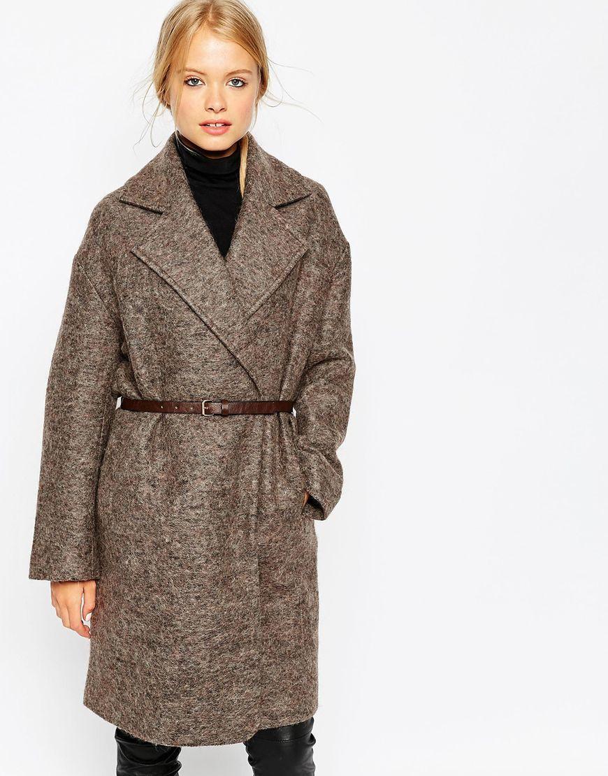 fd4172891e5a5 Image 2 - ASOS - Manteau coupe cocon avec ceinture   Shopping list ...