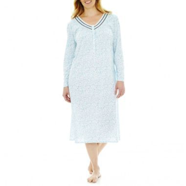 e4e2bc5b5a Earth Angels® Long-Sleeve Snap-Front Ballet Nightgown -