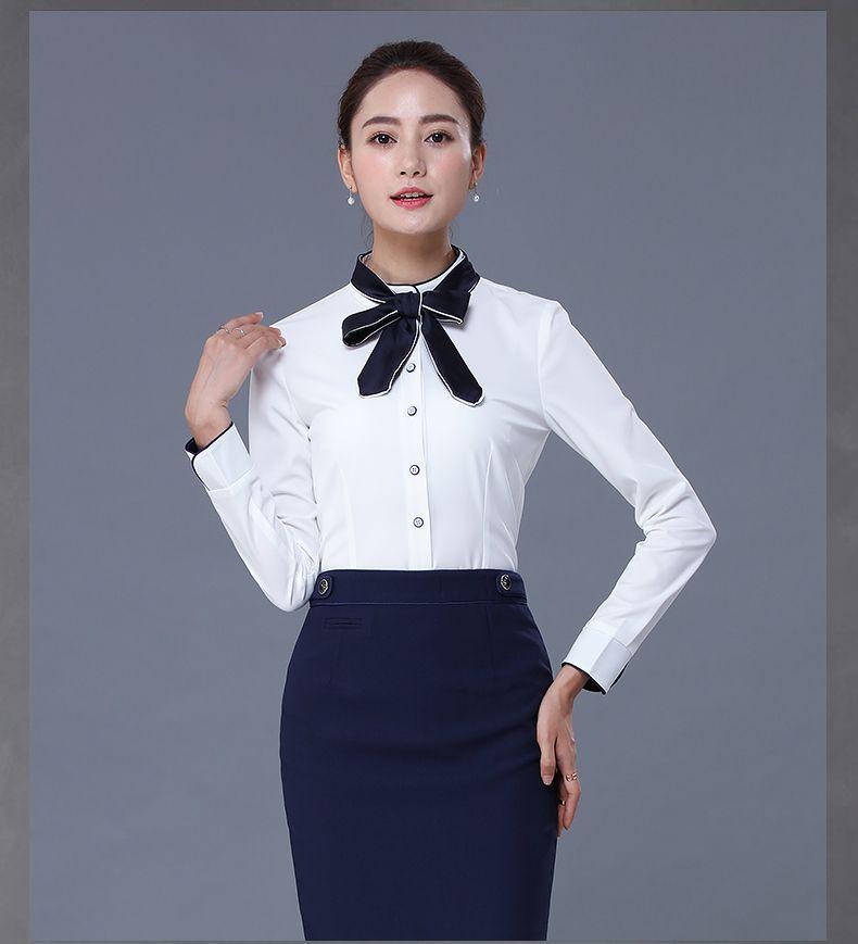 New design stylish formal long sleeve blank office uniform for Office design uniform