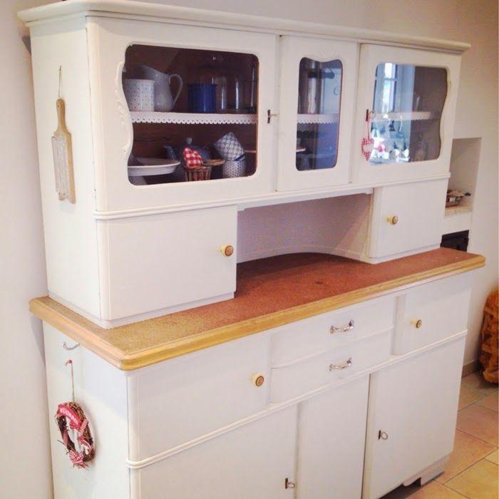 Küchenbuffet DIY - aus alt mach neu Buffet, Shabby and Diy cupboards - küchenschrank mit glastüren