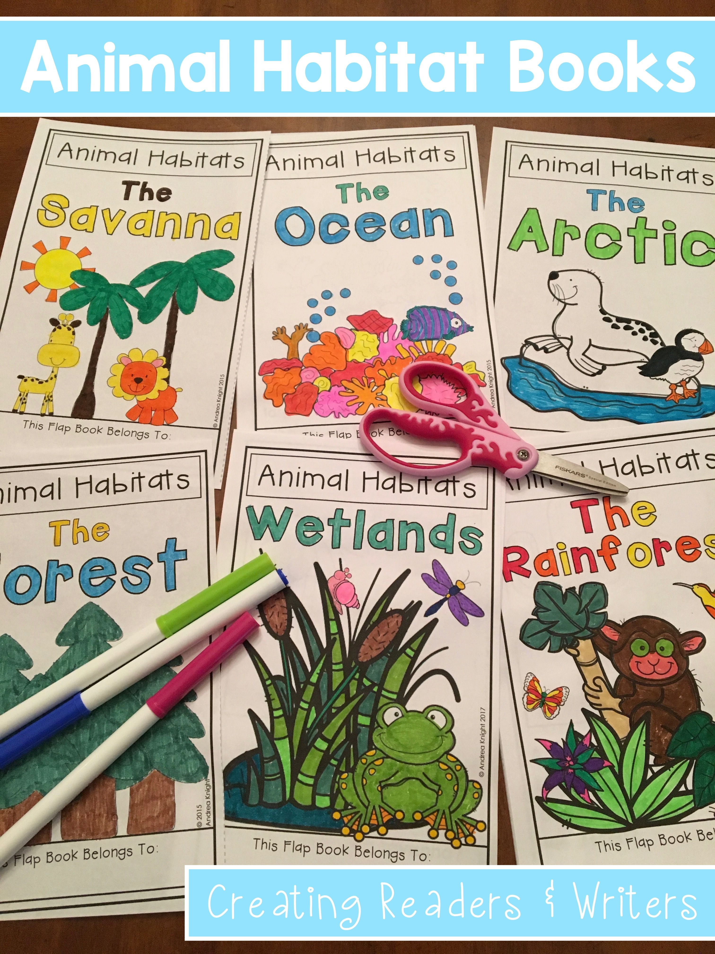 Bundle 7 Animal Habitat Flap Books