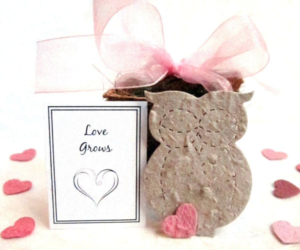 20 Seed Owl Wedding Favors - Flower Seed Paper Owls Bridal Shower ...