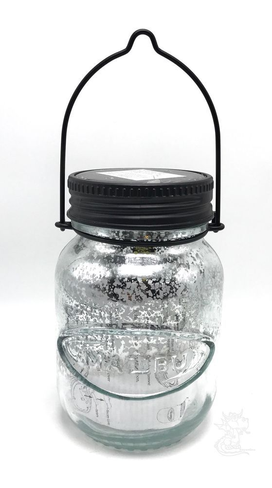 Malibu Lighting Outdoor Solar Powered Mercury Glass Mason Jar Led Light Lamp New Malibu Malibu Lighting Glass Mason Jars Led Light Lamp