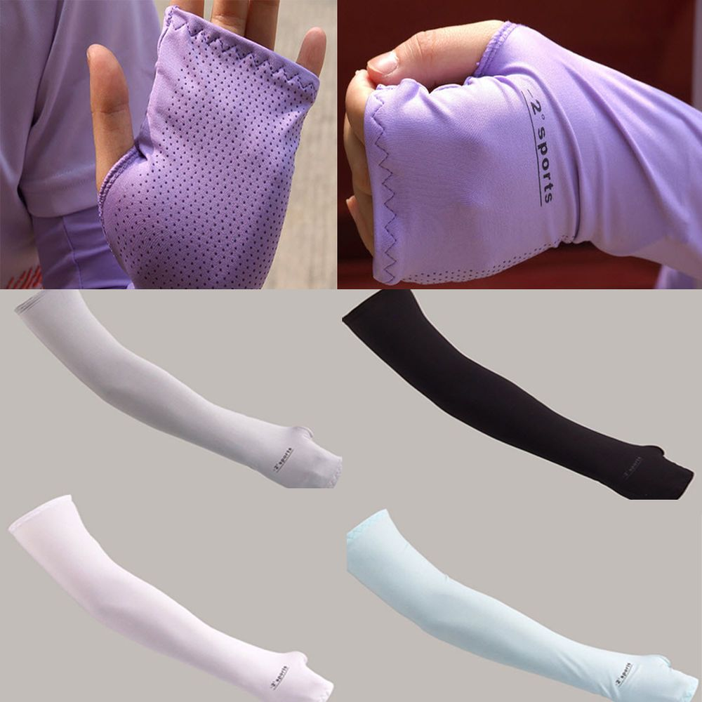 Driving gloves spf - Details About Sport Arm Cooling Sleeves Gloves Uv Sun Protection Cover Golf Driving Basketball