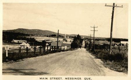 Messines Quebec Canada Burbridge Main Street Old Newspaper