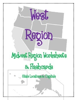 West Region Worksheets And Flashcards Matching Label Capitals - West region states and capitals