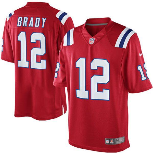 Nike Tom Brady New England Patriots Red Alternate Limited Jersey ... 7f5af20ed39d6