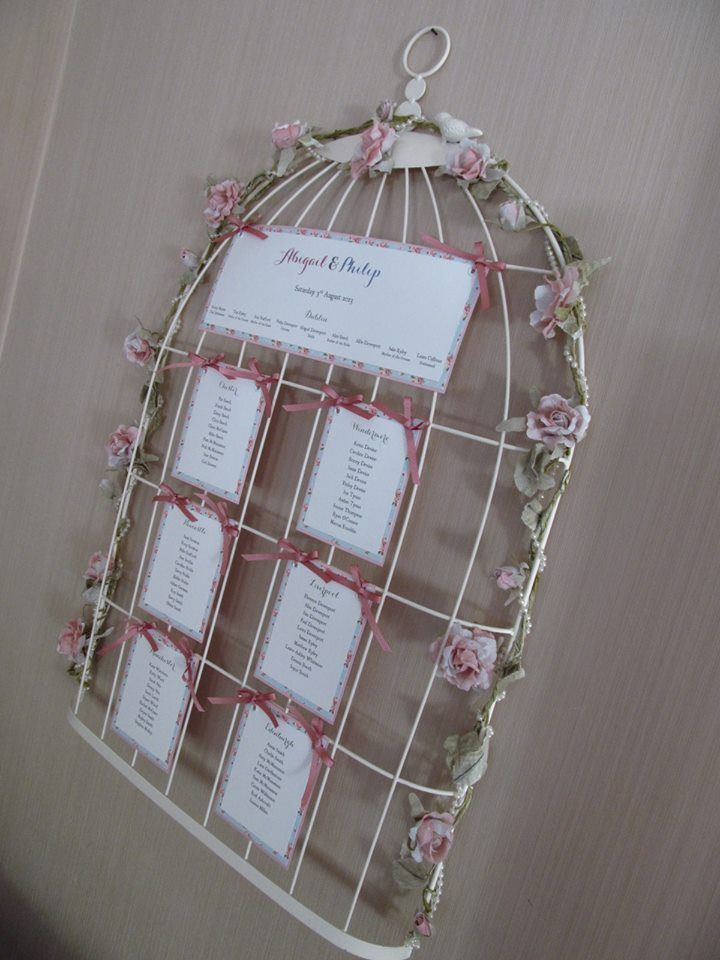 Birdcage frame Table / Seating Plan | Weddings | Pinterest | Table ...