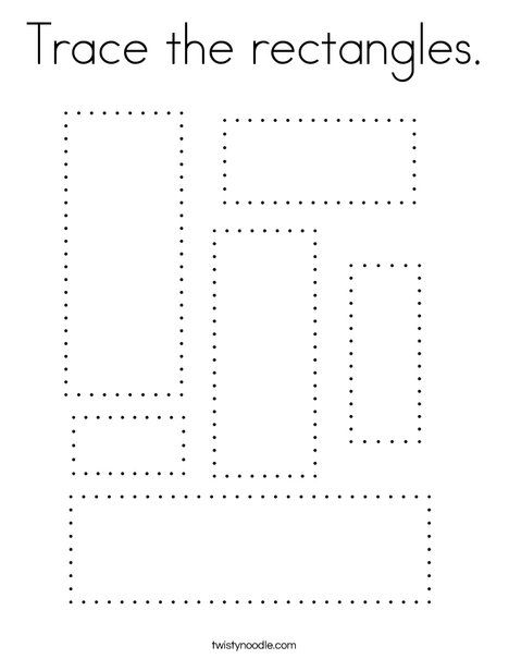 Trace the rectangles Coloring Page - Twisty Noodle ...