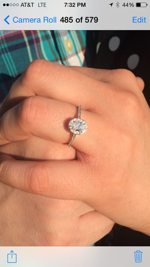 My Daughter's Gorgeous Oval Halo Engagement Ring