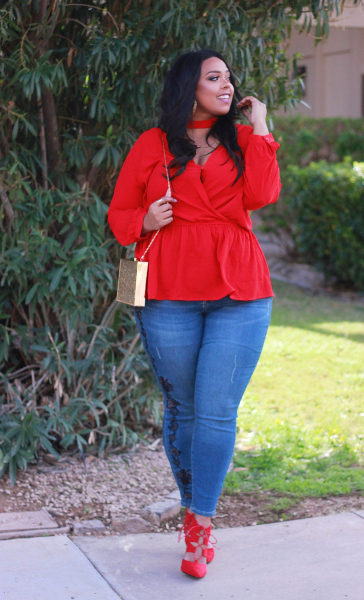 a11b3ed6884 Plus size Valentine s day outfit idea