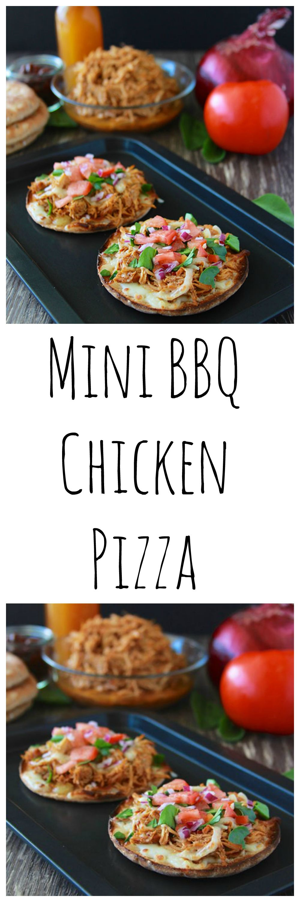 Mini BBQ Chicken Pizza is a quick and easy dinner that your kids ...