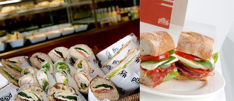 Plaza Deli Bistro // logo design, food packaging