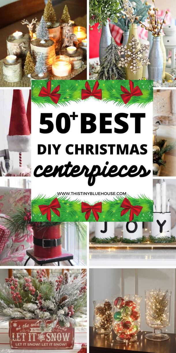 50+ Festive DIY Christmas Centerpieces in 2020 Christmas