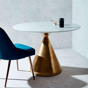 Silhouette Pedestal Dining Table Westelm 899 44 Diameter