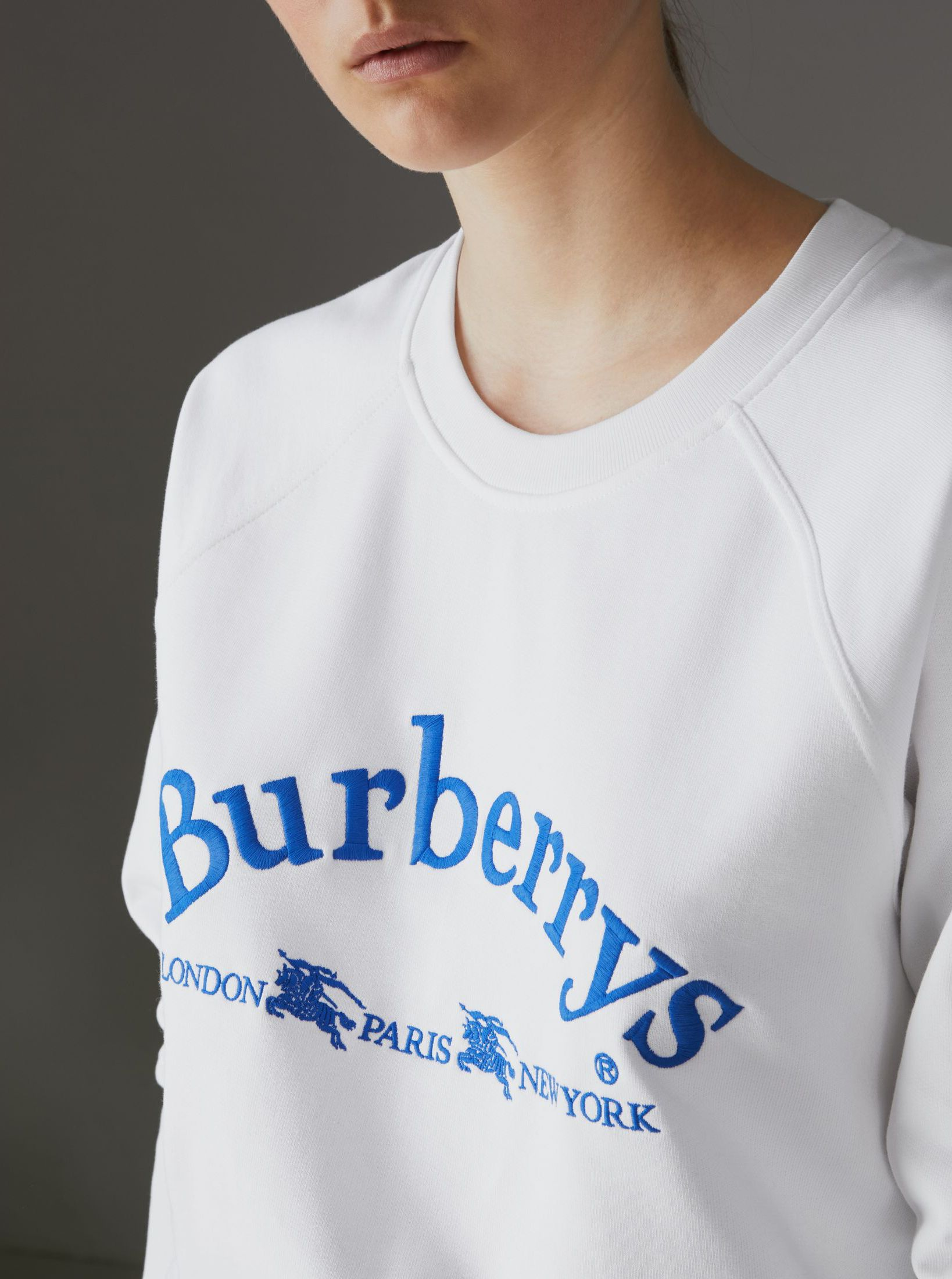 712bf7945cf8 A  Burberry jersey sweatshirt embroidered with a  Burberrys  archive logo