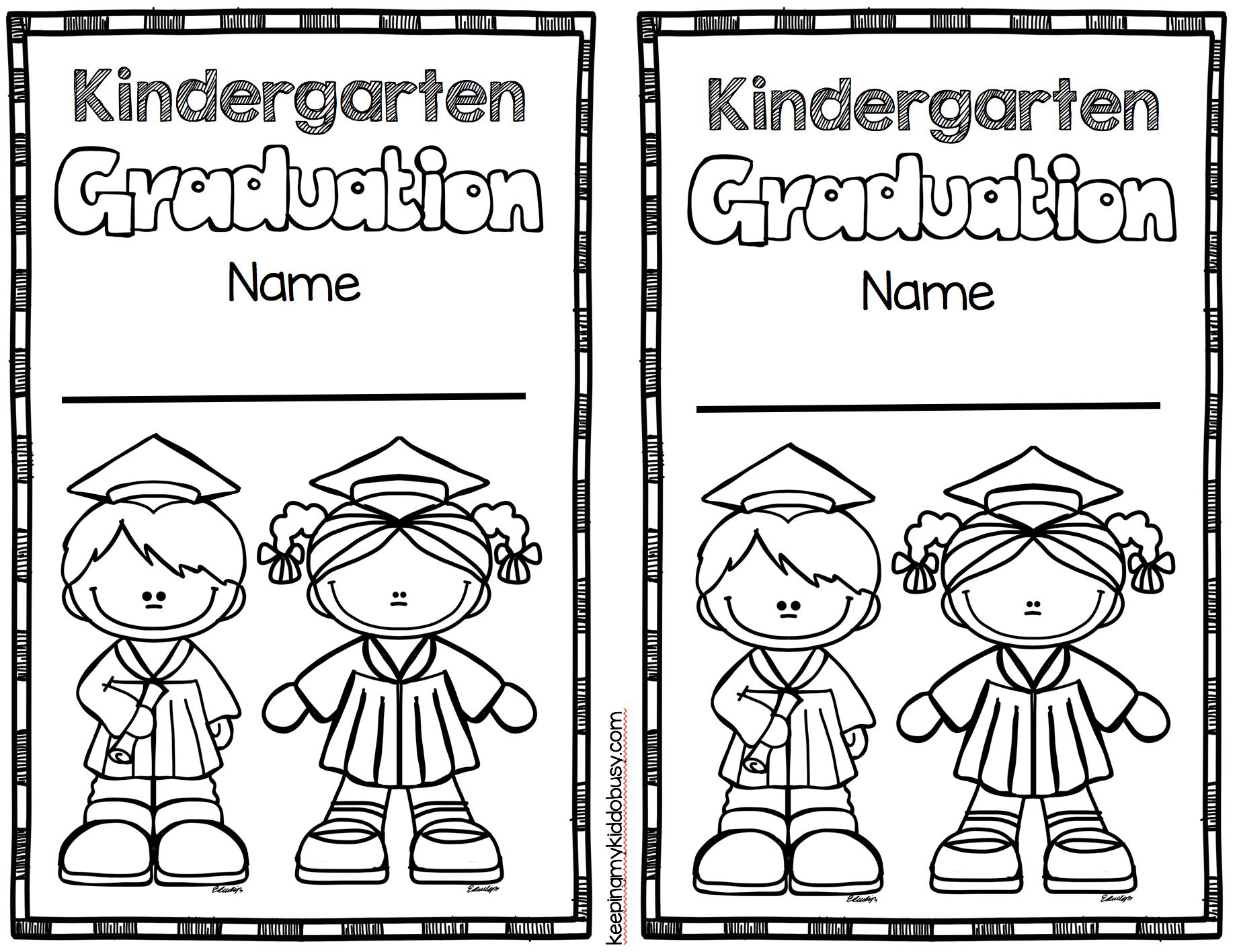 Graduation Class Rings Free Printable Keeping My Kiddo Busy Graduation Book Preschool Graduation Kindergarten Graduation Invitations [ 1416 x 1840 Pixel ]