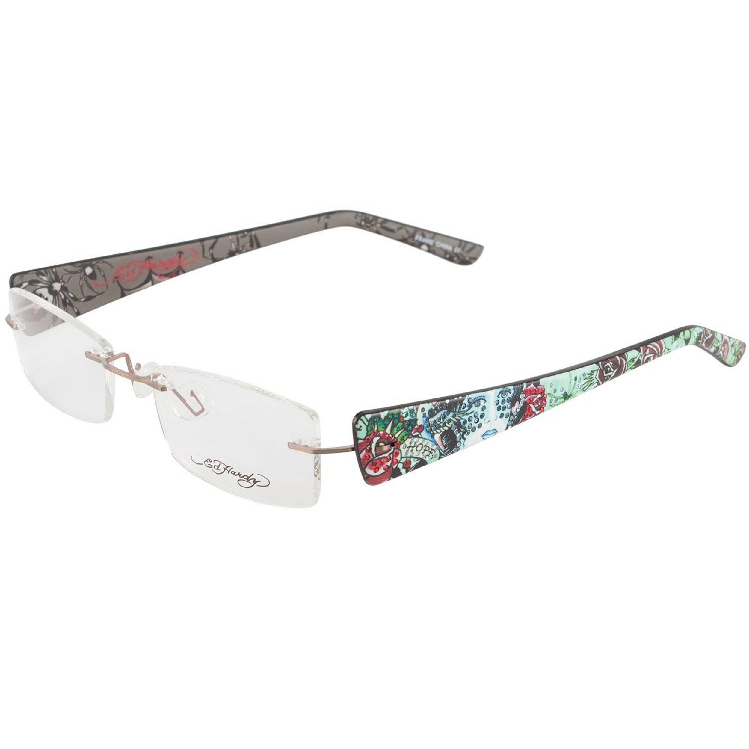 Ed Hardy EHL-817 Lite Pale Copper Designer Eyeglasses | Ed Hardy ...