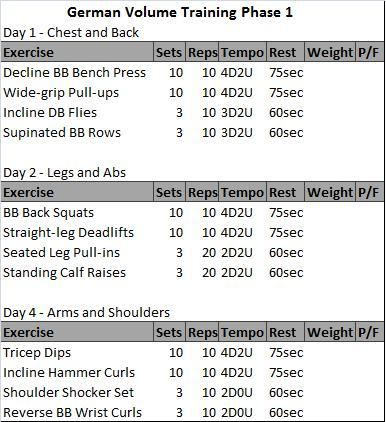 german volume training plan pdf