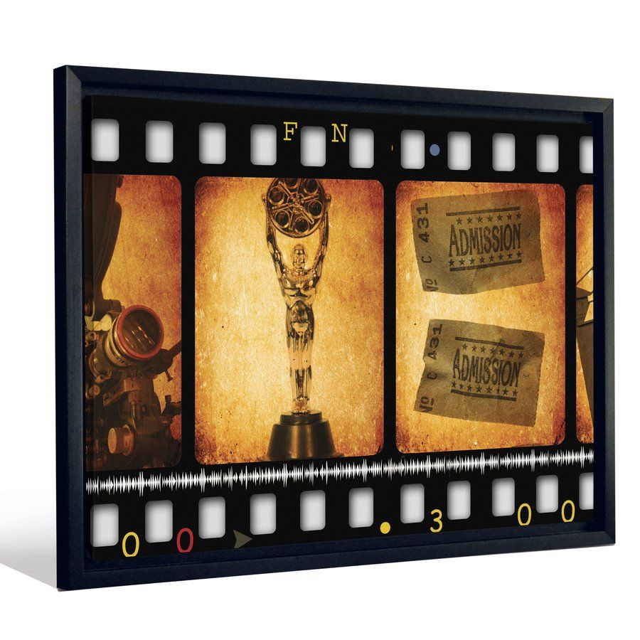 Oscars Movie Theatre Film Tickets Cinema\' Framed Graphic Art Print ...