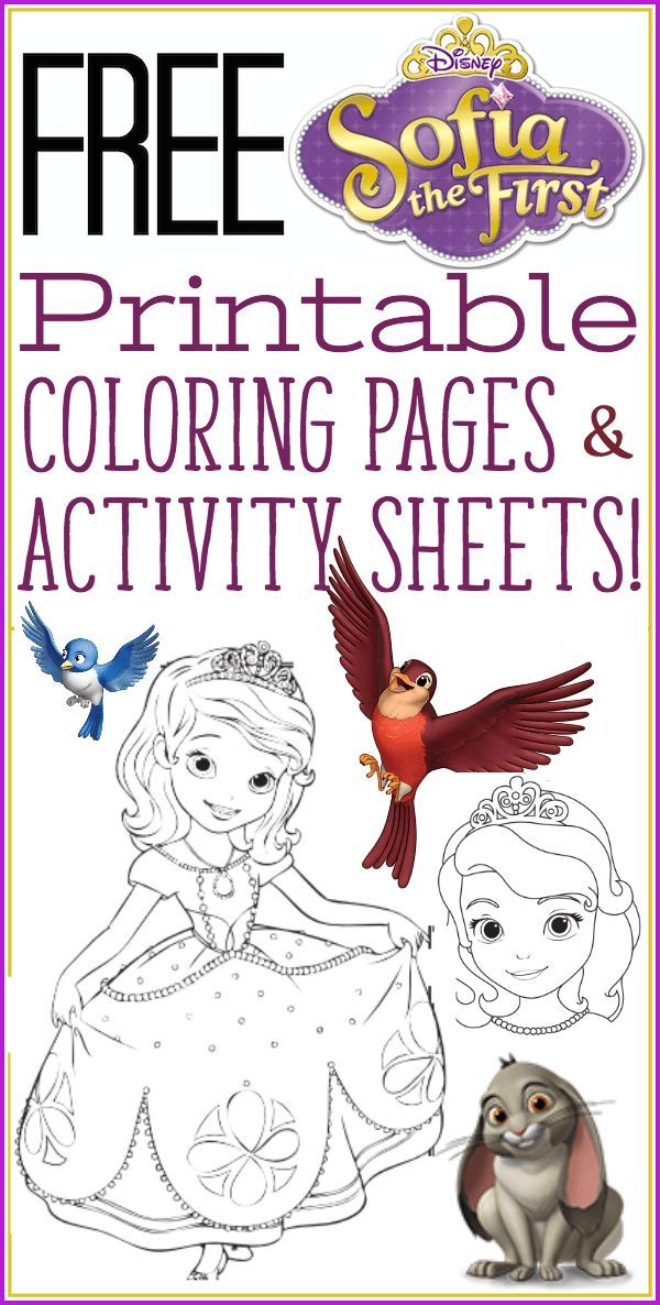 Sofia the First Coloring Pages and activity sheets. Brand new and so much fun!