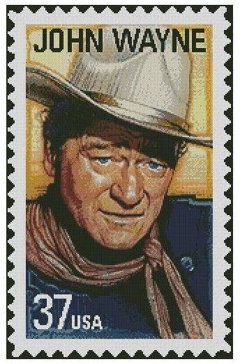 John Wayne Stamp Cross Stitch E-Pattern von jpcrossstitch auf Etsy