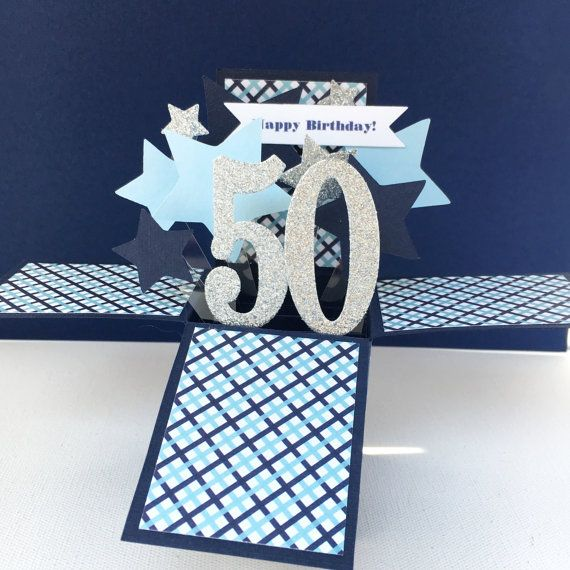 Pop Up Birthday Card 50th Birthday Card 3d By Acarrdiancards 50th Birthday Cards Birthday Cards 50th Birthday