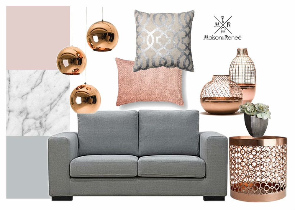 Best Image Result For Blush Gray Copper Living Rooms Copper And Grey Living Room Gray Color 400 x 300