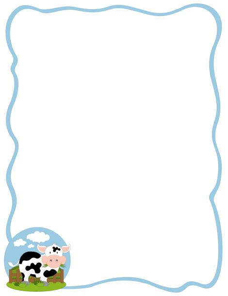 Cow Border Clip Art Page Border And Vector Graphics Cow Border Page Borders Clip Art Borders