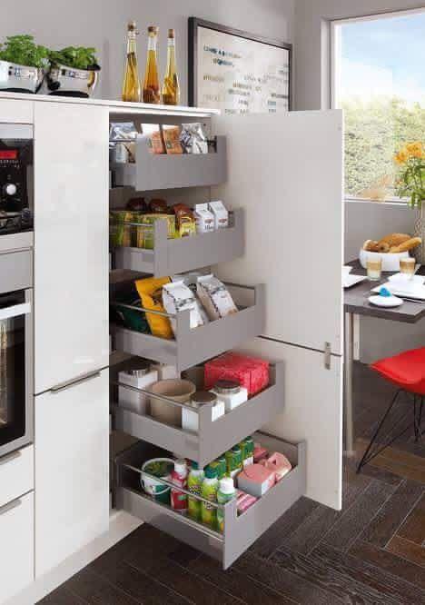 Ordnung rund ums haus runde kühlschrank ideen für die küche studios einrichten wohnen schubladen organisationen