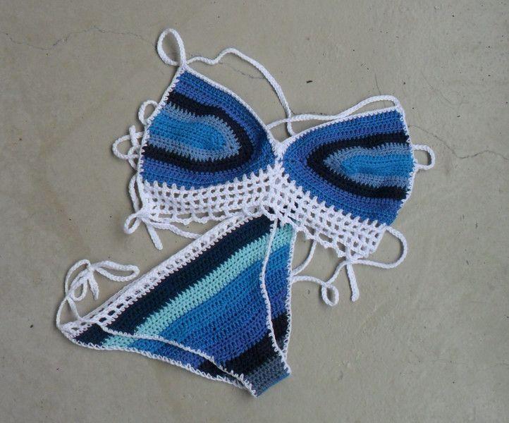 Bademode - Häkel-Bikini - ein Designerstück von wollzeug bei DaWanda