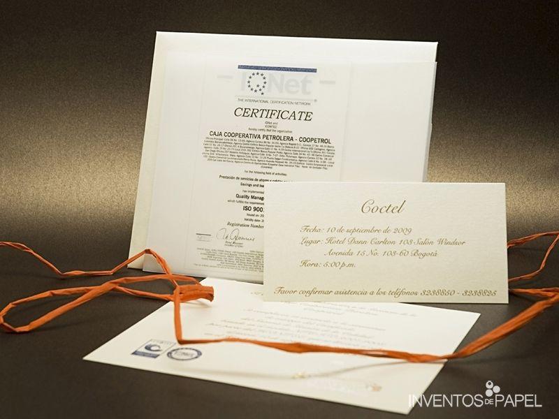 Tarjeta De Invitacion Empresarial Clasica Tradicional