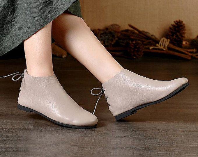 Leather Sandals, Women Sandals, Leather Flats, Sum