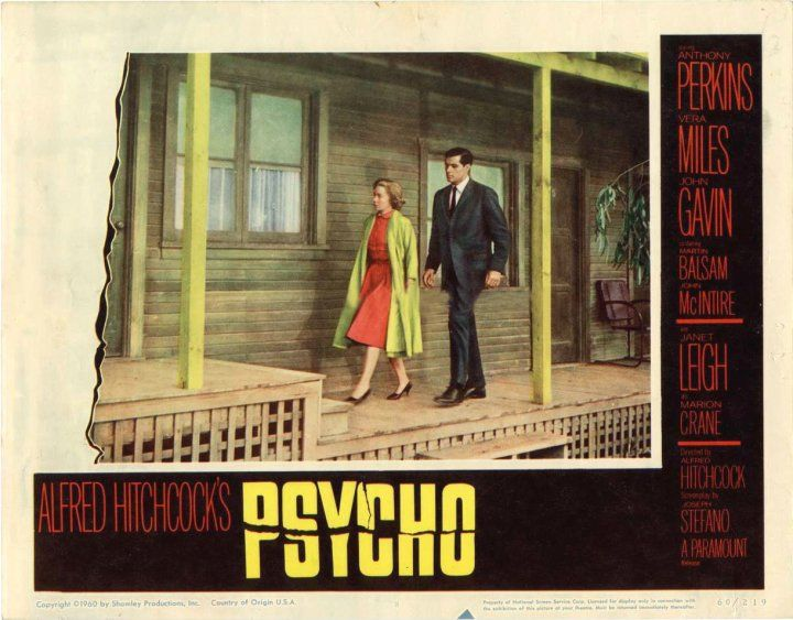 Alfred Hitchcock's Psycho ~ Anthony Perkins, Vera Miles, Janet Leigh, John Gavin